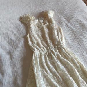 Off white lace mini dress